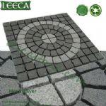 Granite circle pattern mesh paver LEECA stones U.A.E