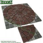 Granite, porphyry circle, jigsaw paver mat