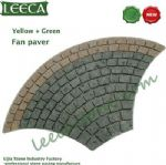 Yellow granite green porphyry fan paver