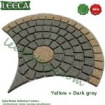 Yellow dark grey Chinese granite paver mat