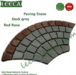 Dark grey granite red porphyry paving stone