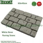 Porphyry porfido white rose paving tiles, brick stone