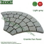 Chinese light grey granite fan paver mat