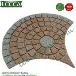 Euro fan natural garden cobblestone paver