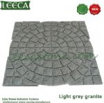 Light grey granite, circle pattern paving stone U.A.E