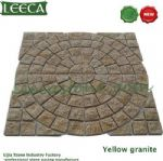 Chinese yellow granite stone, plaza paver