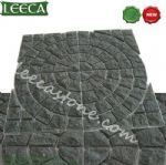 Chinese dark grey granite circle paver mat