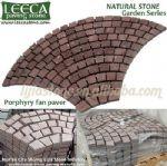 Porphyry,garden stone walkway,fan cobblestone
