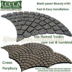 Driveway stone mat,stone on mesh,outdoor pavers