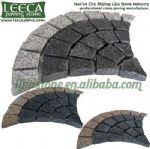 Fan pattern,outdoor paving stone,cobblestone