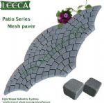 Fan shape mesh paver, patio series