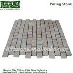 Chinese yellow granite paving stone natural beige block