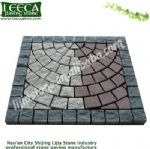 Mix color granite square mesh paver