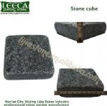 Black cobble block stone cube tumbled finish