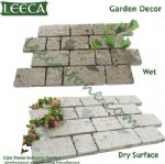 White porphyry garden decor interlocking stone types