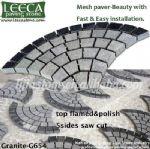 Driveway granite natural stone,mesh stone,granite cobbles