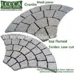 Mesh back cobble stones,fan pattern,paving mats