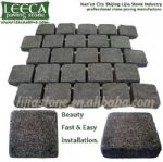Outdoor flooring,cobblestone,stone on net, LEECA  stones Doha
