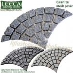 Driveway granite natural stone,fan pattern,granite cobbles