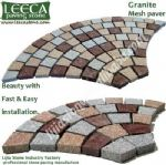 Garden cobbles,cobble stone mats,fan pattern
