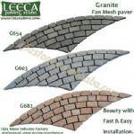 Driveway stone,granite cobbles,cobble rosette