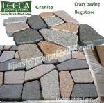 Random pattern,irregular paving,stone on net