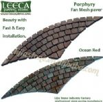 Porphyry,stone paving,fan cobbles