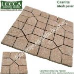 Square paver,stone pavement,mesh back cobble stone