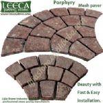 Color stone paving,fan cobble,landscaping
