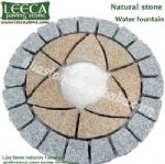 Circle kit paver,round stone paving,water feature