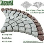 Exterior floor tile,stone pavement,fan shaped paver