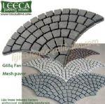 Flooring mesh stone,fan cobbles,paving mats