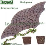 Red porphyry mesh paver driverway series
