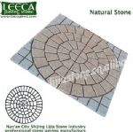 Chinese yellow light grey granite, natural stone, mesh paver