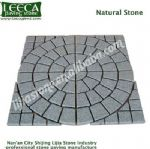 Natural stone central circle mesh paver, LEECA stone U.A.E