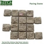 Beige granite paving stone interlocking block