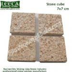 Rusty yellow stone tiles cube cobblestone
