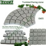 Fan shape tumbled paving stone G603