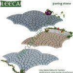 Granite fan shape paving stone plaza decor