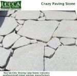 Light grey patio gravel irregular block, LEECA stones Muscat