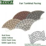 Mix color fan tumbled paving plaza graden decor