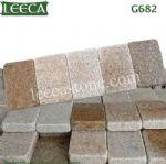 G682 granite stone cube natural kerbstone