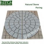 Light grey granite central circle natural paving stone