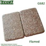 G682 stone tile flamed finish rusty yellow block