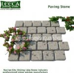 White rose paving stone porfido Kamen