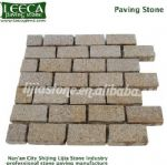 G682 rusty yellow paver split joint stone