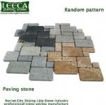 Colorful split joint block random pattern paving stone