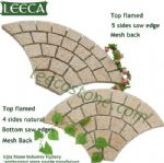 Crema marfil fan shape garden stepping stone