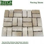 Independent assortment stone cube yellow paving stone