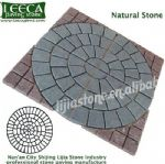 Natural stone dark grey granite central circle
